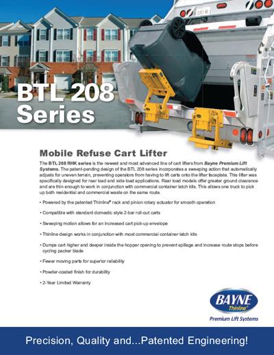 BLT 208 12 RHK Series Cart Lifter Brochure