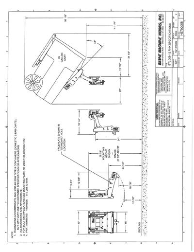 BLT 208 12 RHK Series Cart Lifter Spec Sheet