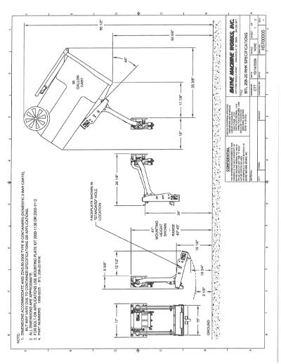 BLT 208 20 RHK Series Cart Lifter Spec Sheet