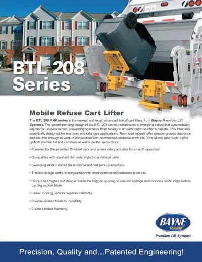BTL-208-RHK Garbage Truck Tipper Brochure