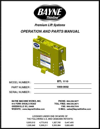 BTL Series 1900-0002 BTL 1110 Manual