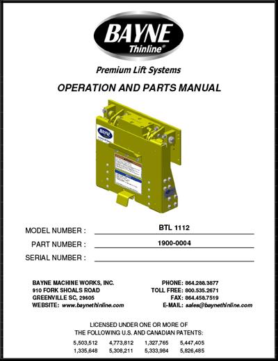 BTL Series 1900-0004 BTL 1112 Manual