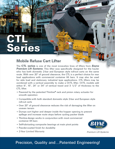 CTL 1110 Series Refuse Lifter Brochure