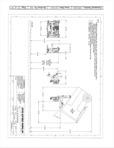 Bayne CTL 1110 Series Refuse Lifter Spec Sheet