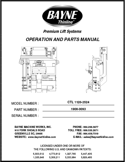 CTL 1120 Series Refuse Lifter Manual