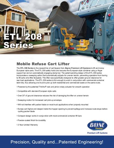 ETL 208 40 Garbage Truck Cart Tipper Brochure Download