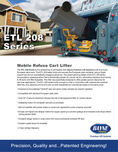 ETL 208 48 Roller Bearings Series Cart Tipper Brochure