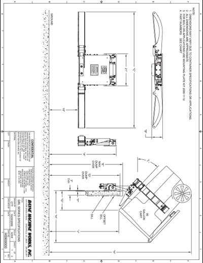 GRL 1110 Series Cart Lifter Spec Sheet