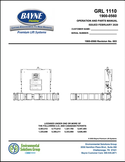 GRL 1110 Parts & Service Manual