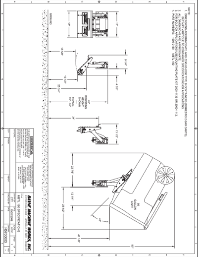 MBTL 180 Series Cart Lifter Spec Sheet