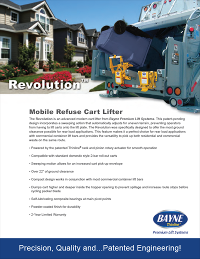 Revolution HD Garbage Truck Tipper Brochure