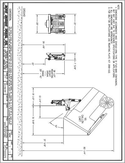 Revolution HD Cart Lifter Spec Sheet