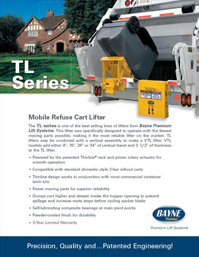TL 1116 Series Garbage Truck Cart Lifter Brochure