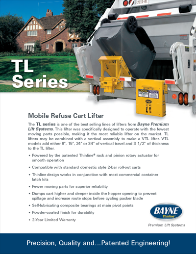TL 1124 Series Garbage Truck Cart Lifter Brochure