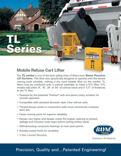 Bayne TL Dual Actuator Garbage Truck Tipper Brochure