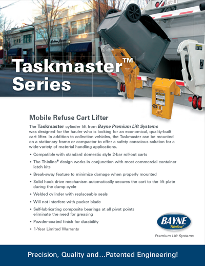 Bayne Taskmaster Cart Lifter Brochure