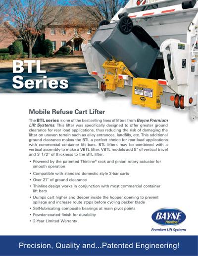 BTL 208 Series Cart Lifter Brochure