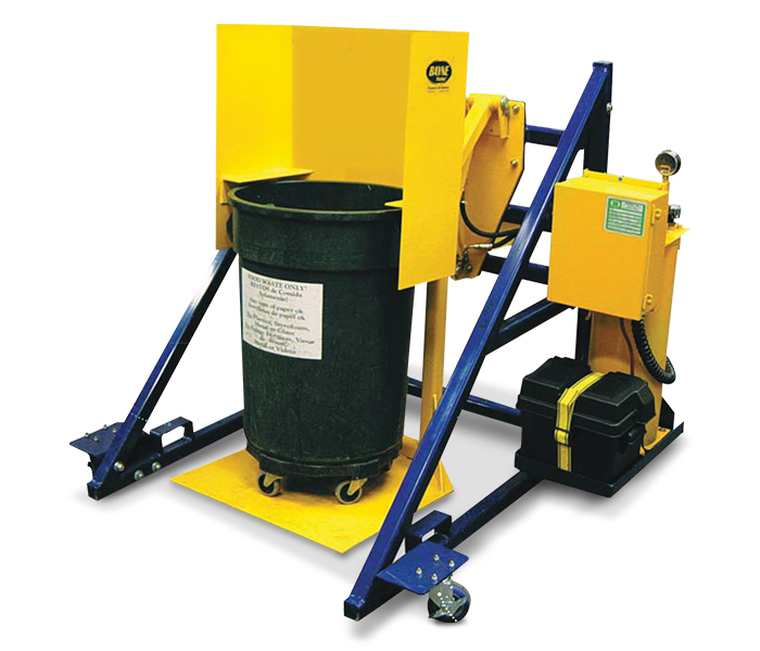 Stationary Food Service Garbage Waste Can Lifter