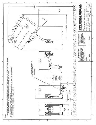 BTL-208-RHK-20 Garbage Truck Lifter Manual