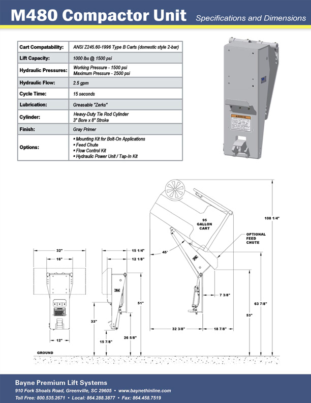 M480 Waste Compactor Trash Tipper Brochure